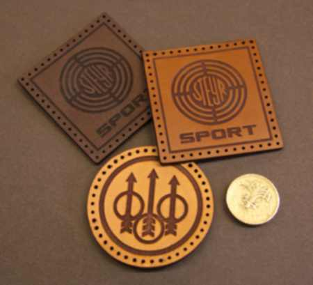 Leather Sew on Patch (laser engraved)